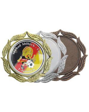Große Medaille mit Lorbeerblättern