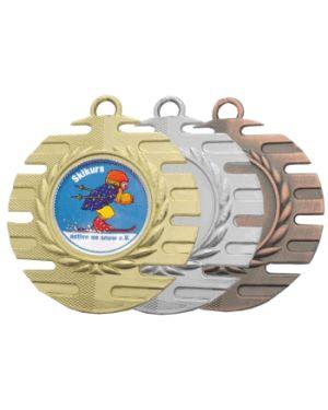 Kleine Medaille mit Lorbeerkranz