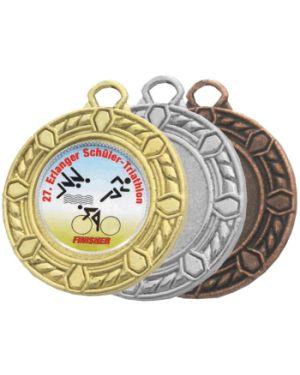 Kleine Medaille mit umrahmender Kordel