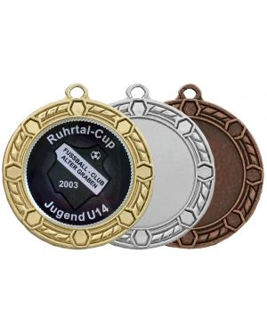 Große Medaille mit Kordel im Rahmen