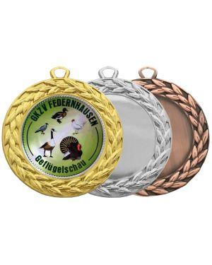 Große Medaille mit Perlenrand