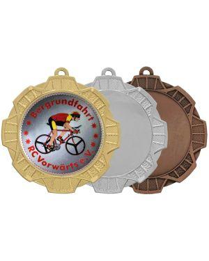 Große Medaille mit Optik Korbflechtung