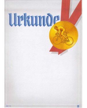 Urkunde A4 Radsport; 170g/qm schwerer Karton; geeignet für alle Druckerarten