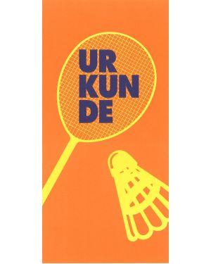 Badminton, Sonderformat mit Prägung
