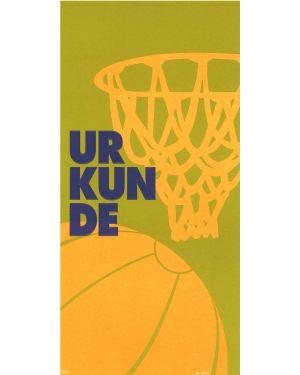 Basketball, Sonderformat mit Prägung