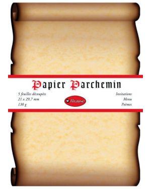 Kalligr.-Papier Mittelalter A4, 5 Blatt