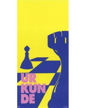 Schachurkunde, Sonderformat mit Prägung