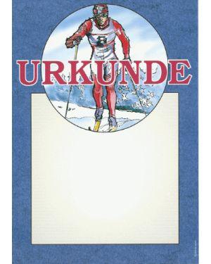 Ski-Langlauf Urkunde