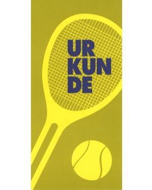 Tennisurkunde, Sonderformat mit Prägung
