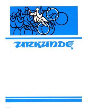 Urkunde Kunstradfahren
