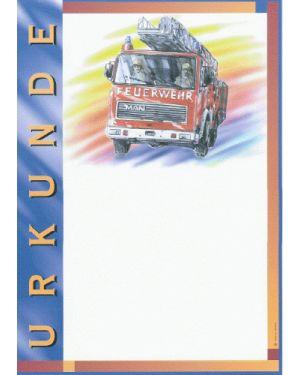 Urkunde Motiv Feuerwehr