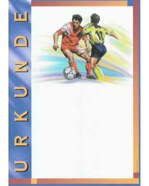 Fußballurkunde A4, farbig