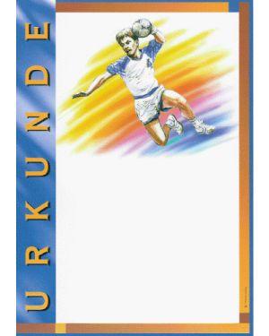 Urkunde Motiv Handball