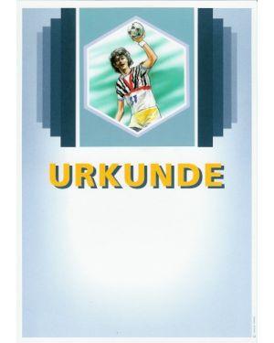 Urkunde Motiv Handball Damen