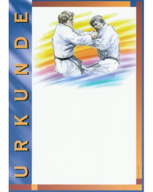 Urkunde Motiv Judo