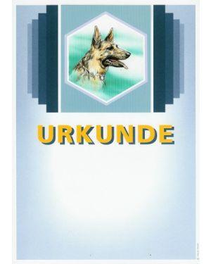 Urkunde Motiv Schäferhund