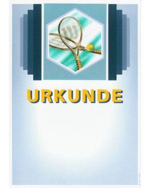 Urkunde Motiv Tennis