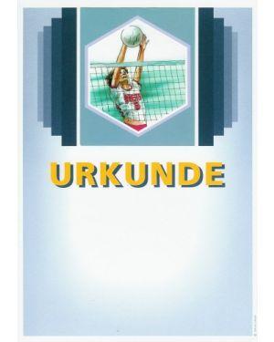 Urkunde Motiv Volleyball Damen