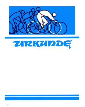 Urkunde Radsport