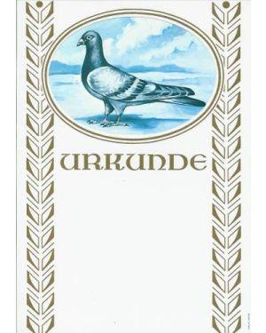 Urkunde mit 1 Taube