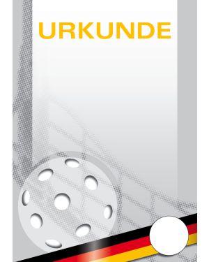 Floorballurkunde A4 mit Platzhalter für ein eigenes Logo