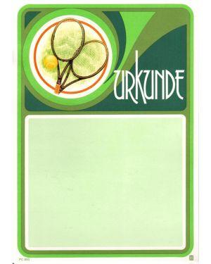 Urkunde Tennis