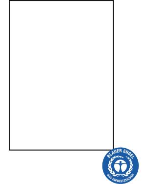 Urkundenkarton aus Recycling-Papier, weiss