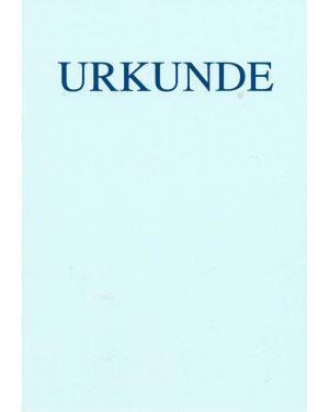 Schnörkellose Urkunde DIN A4