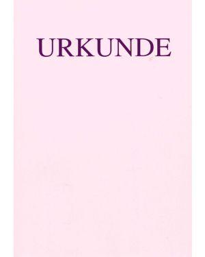 Schnörkellose Urkunde DIN A4, rosa