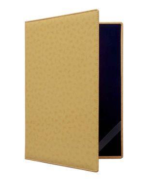Urkundenmappe aus Kunstleder in gold
